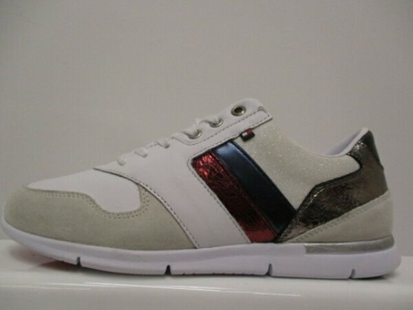 Tommy Leather Light Ladies Trainers UK 6 US 8.5 EUR 39 REF 1754 $65.77