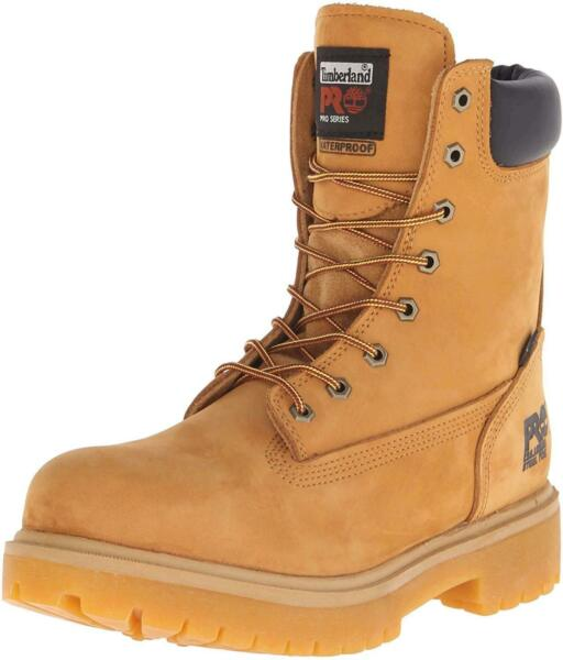Timberland Pro Men#x27;s Direct Attach 8quot; Steel Toe Boot Brown Size 10.0 jDCW $71.47