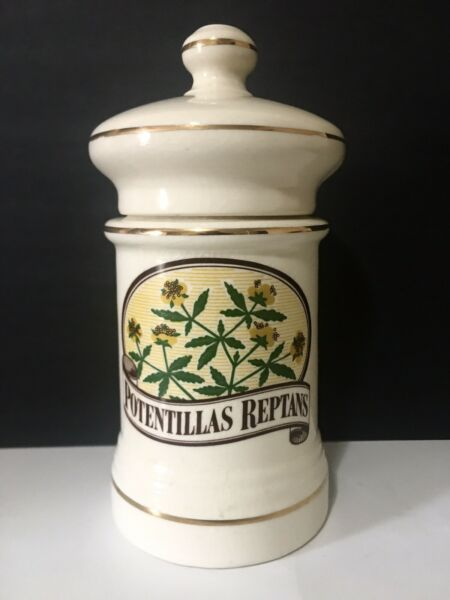Vintage Johnson amp; Johnson POTENTILLAS REPTANS 9quot; Apothocary Jar Pharmacy Rx