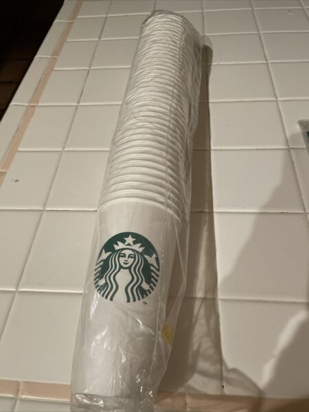 STARBUCKS disposable VENTI PAPER CUPS 20.5 oz 40 CT sealed pack