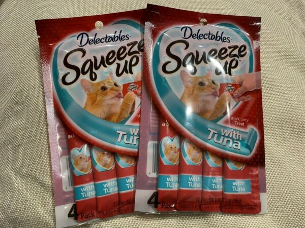 HARTZ DELECTABLES SQUEEZE UP THICK TASTY TUNA LICKABLE TUBES TREAT PACK OF 2 $10.99