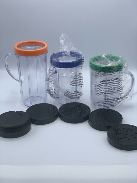 Ninja Magic Bullet Replacement Cups Lids And Rings Including On The Go Cup Lid $20.00