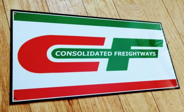 Consolidated Freightways Sign .. trucking gas oil gasoline garage