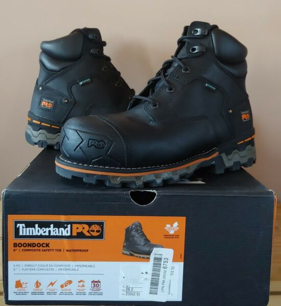 Timberland PRO 6#x27;#x27; Boondock Comp Toe Waterproof Work Boots Mens Size 8 A1FZP $179.99