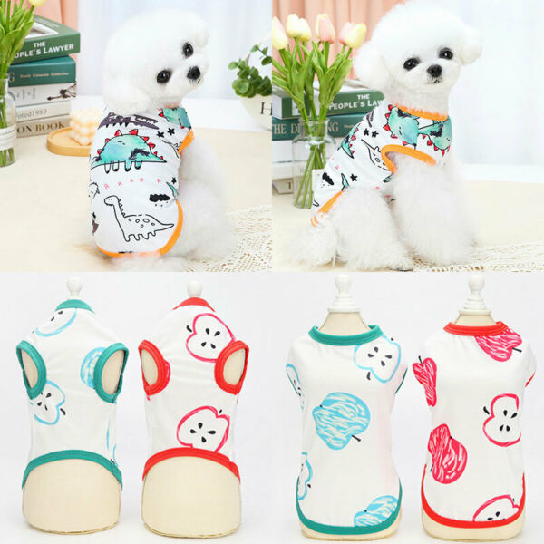 Pet Dog Clothes Summer Puppy Cat Dog Vest t Shirt For Chihuahua Yorkshire Dogs C $5.18