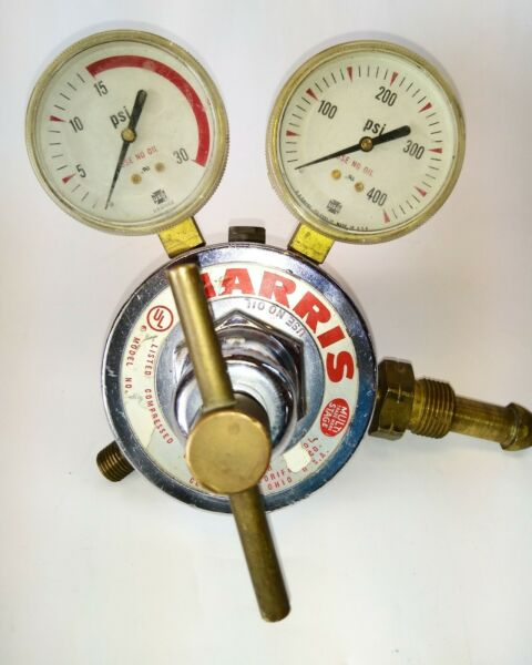 Harris Welding Compressed Gas Dual Gauge Regulator 30 400
