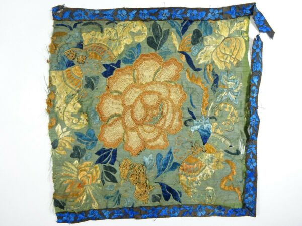 Vintage Panel with Silk Embroidery and Blind Stitch