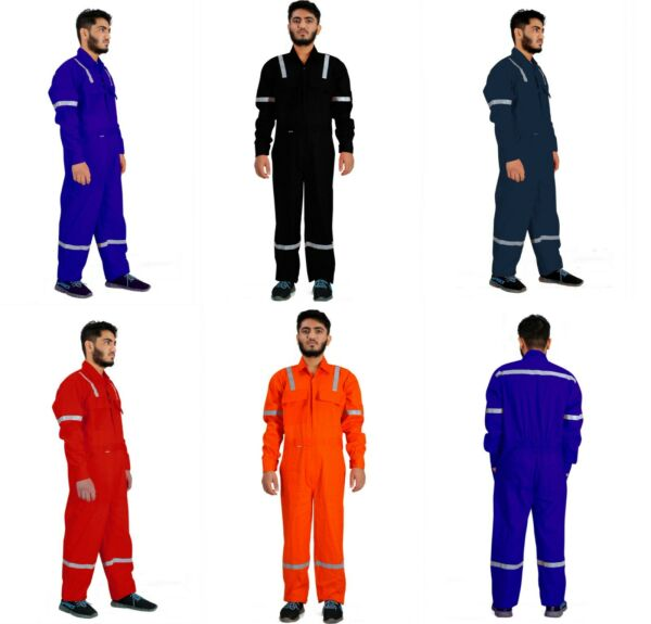 Men#x27;s Coveralls Work Wear Overalls Cotton Boiler Suit Protective Mechanics Dress $26.99