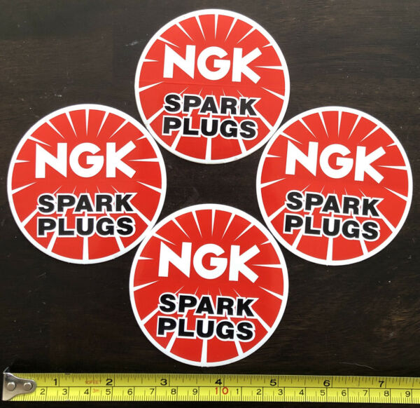 4 NGK SPARK PLUGS RACING STICKERS DECALS overland utv ultra4 offroad drags nhra