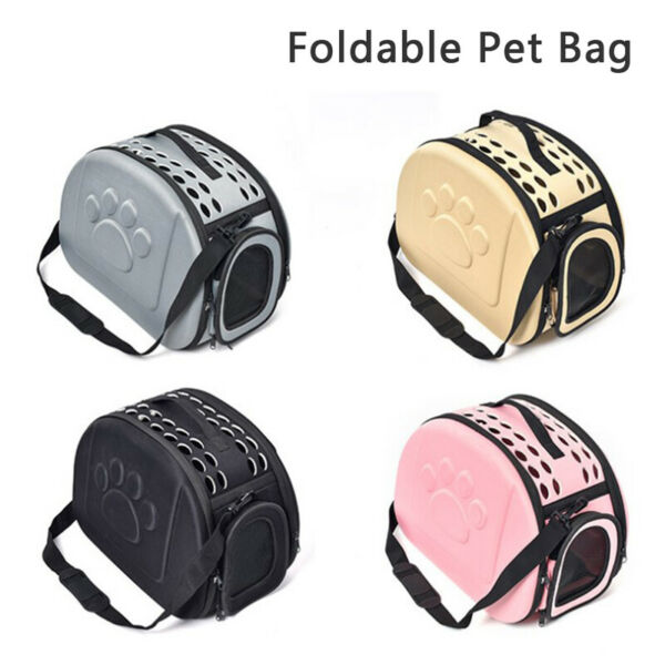 Foldable Dog Bag Breathable Ashion Leather Pet Carrier Bag for Dogs Accessories $26.91