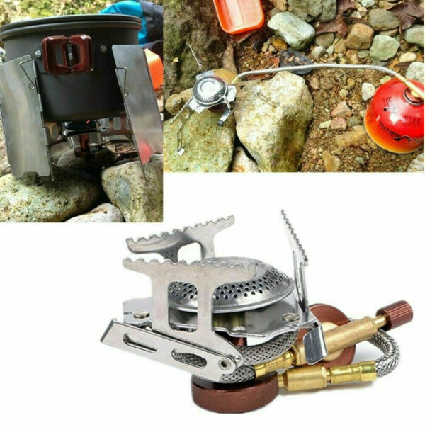 3500W Outdoor Picnic Gas Burner Portable Backpacking Camping Hiking Mini Stove .