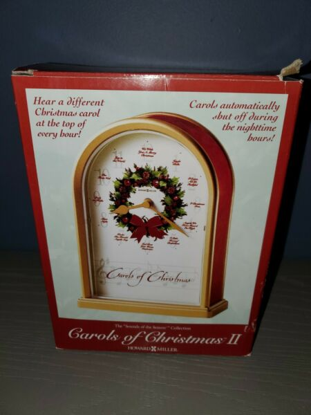 NEW 1999 Howard Miller Carols of Christmas II Shelf Mantel Clock 645 424 in Box