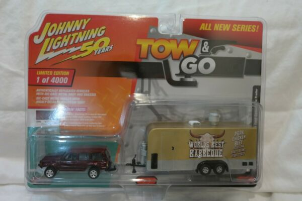 2019 Johnny Lightning Tow amp; Go Jeep Cherokee Food Concession BBQ Trailer 1 4000