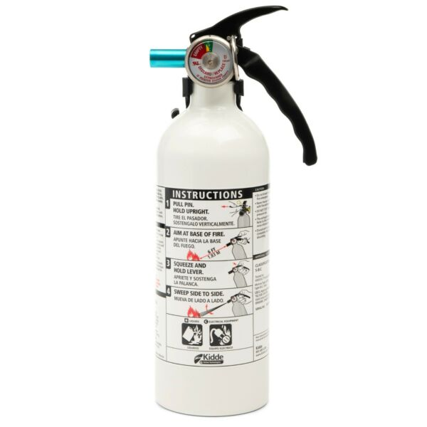 Fire Extinguisher Home Car Office Safety Kidde 5 B:C 3 lb Disposable Marine NEW