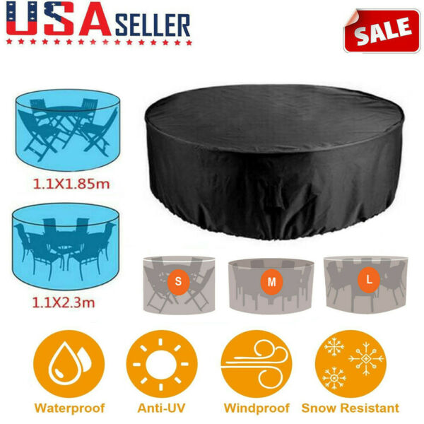 Waterproof Outdoor Patio Furniture Covers Round Garden Table Chair Set Cover New $32.99