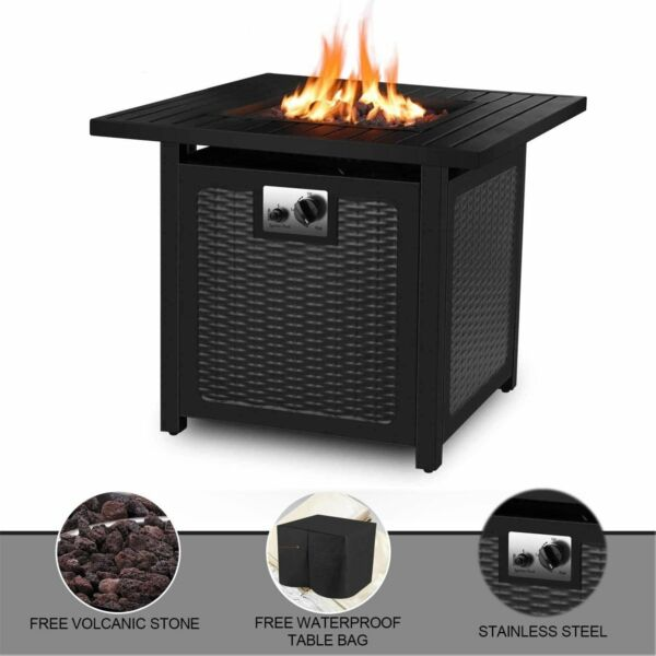 Propane Fire Table 28 inch 50000 BTU Auto Ignition Outdoor Gas Fireplace Hearter