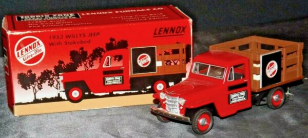 1953 WILLY#x27;S JEEP Stakebed TRUCK Toy Model BANK DieCast Metal LENNOX Torrid Zone $19.97