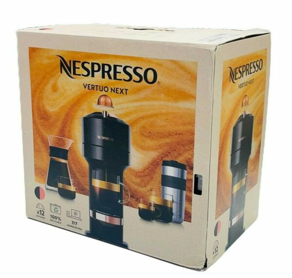 NEW Nespresso Breville Vertuo Next Premium Coffee Maker amp; Espresso Machine Black