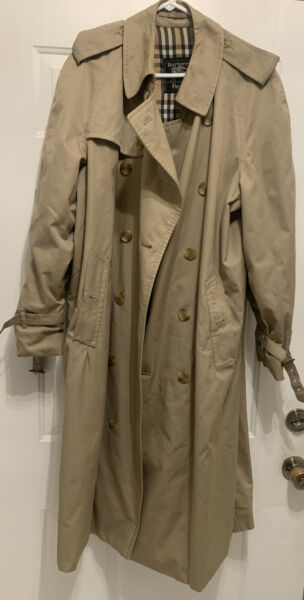 Made for Harrods Mens Burberry Trench Coat Size 56 Classic $160.00