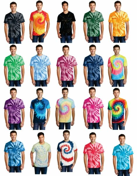 Tie Dye Mens Unisex T Shirt Blank Tye Dyed Tee Spiral 20 Colors to Choose From