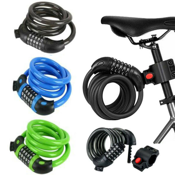 Combination Bike Lock Strong Heavy Duty Cycle Strong Security Bicycle Locks 1.2M $9.99