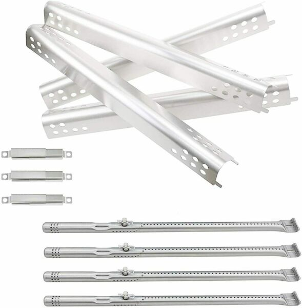 4 Pack Repair Kit Replacement for Charbroil Grill Burner and Heat Plate