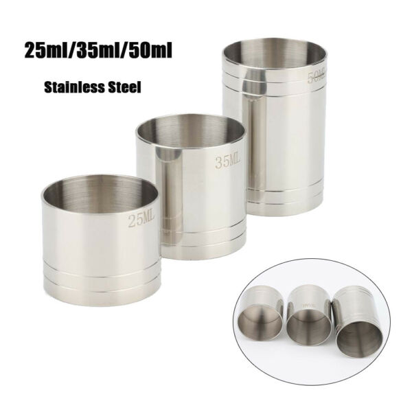 Stainless Spirit Cocktails Measure Cup Jigger Alcohol Bartending Bar Wine Tools
