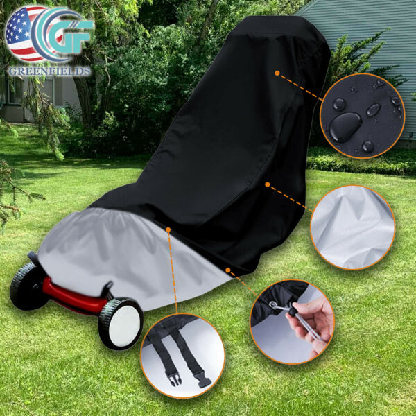 Waterproof Lawn Mower Cover Outdoor UV Protector Universal Fit for Push Mower US $15.99