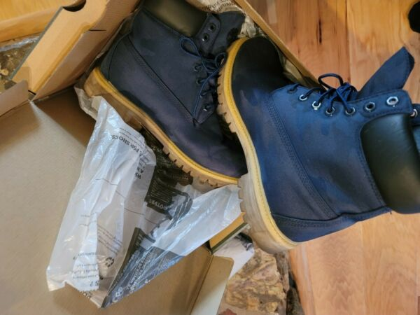 Timberland boots men US 10.5 BLUE 6quot; $100.00