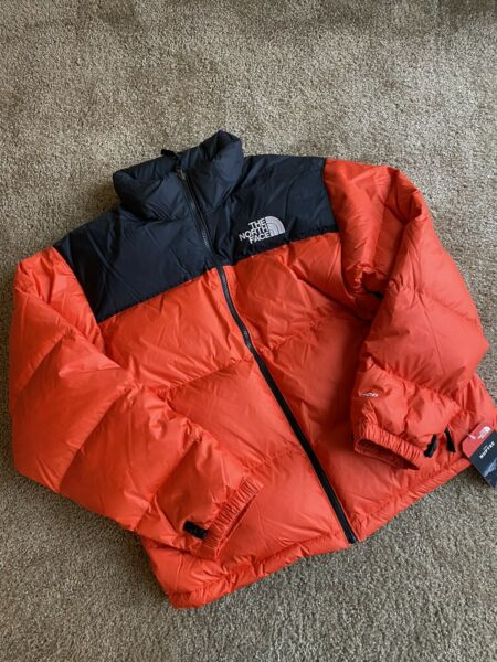The North Face 1996 Rertro 700 Down Nuptse Puffer Jacket Flare Orange L $230.00