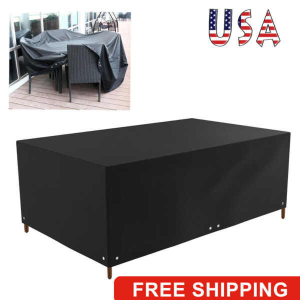 Waterproof Dustproof Patio Furniture Covers Rectangle Table Rain Cover Outdoor⭐