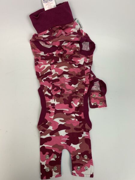 Suitical Recovery Suit Dog Small Pink Camouflage $18.98