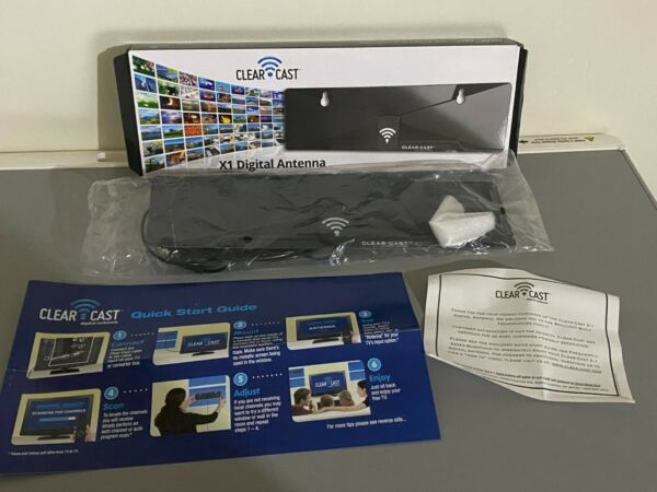 Clear Cast X1 11quot; Black Window Mount Digital Television Antenna 2012 New in Box