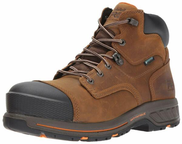 Timberland PRO Men#x27;s Helix HD 6quot; Composite Toe Waterproof Brown Size oGqh $95.97