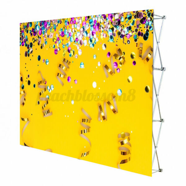 Iron Retractable Stand Wall Frame Wedding Party Photo Backdrop Banner Display $73.56