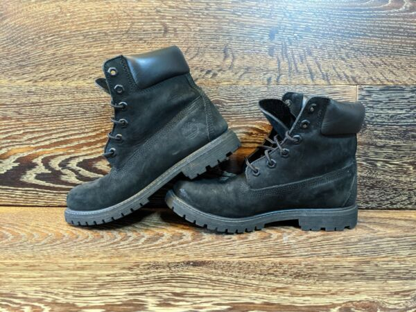 Black Suede Timberland Boots Womens 7 Mens 5 $30.99