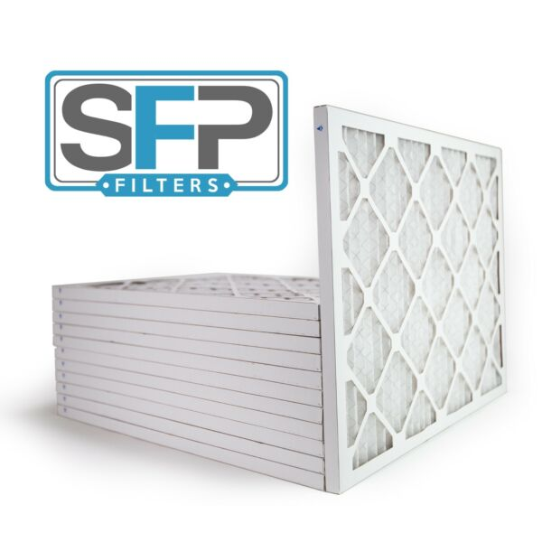 16 3 8x21 1 2x1 Merv 8 Pleated AC Furnace Filters 12 pack Made in the USA $65.90