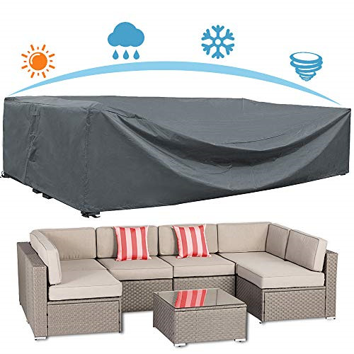 AKEfit Patio Furniture Cover Outdoor sectional Furniture Covers Waterproof Dust