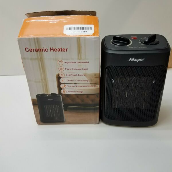 Aikoper Space Heater 1500W Electric Heaters Indoor Portable New Sealed In Box