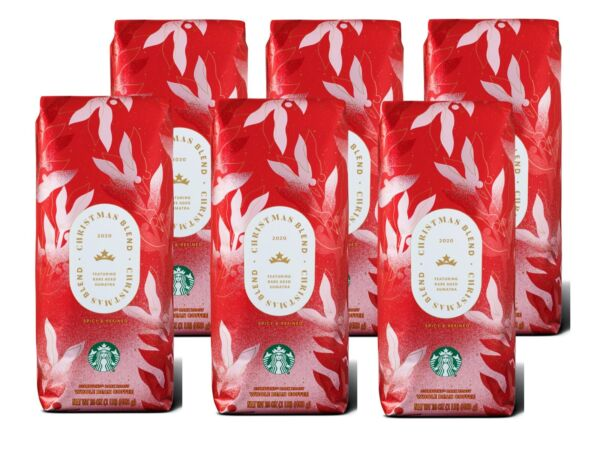 Starbucks Whole Bean Christmas Blend 2020 Rare Aged Sumatra Case of 6 1 lb bags