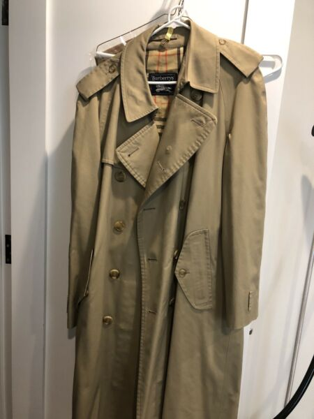 Burberry Men's Lined Camel Trench Removable Lining 44R $200.00