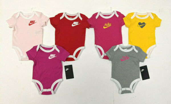 Nike Baby Girls 6 Piece Bodysuit Set 3 Months New with tags