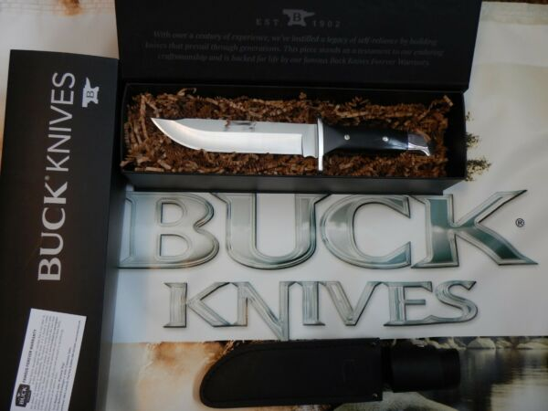 Buck Knives 124 Frontiersman Fixed Blade Knife Leather Sheath NEW IN BOX