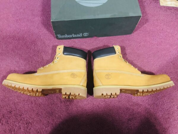 Timberland Men#x27;s 6 inch Premium Waterproof Boot 10.5 Wheat Nubuck $129.00