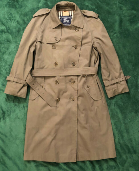 Vintage Burberry Classic Trench Coat Jacket Size 38 Designer Bloomingdale#x27;s $100.00