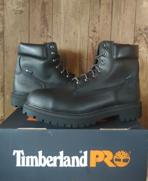 Timberland PRO Mens 6quot; Direct Attach Work Boots 15 Black 26038 Steel Toe $165 $105.00