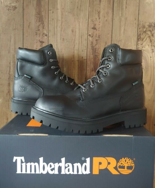 Timberland PRO Mens 6quot; Direct Attach Work Boots 11 W Black 26038 Steel Toe $165 $105.00
