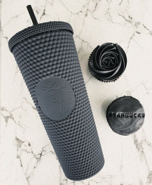 Starbucks Matte Black Studded Tumbler Soft Touch 2021 Cup Limited 100% New Tags