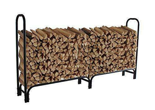 Outdoor Fire Wood Log Rack for Fireplace Heavy Duty Firewood Pile Storage 8 ft