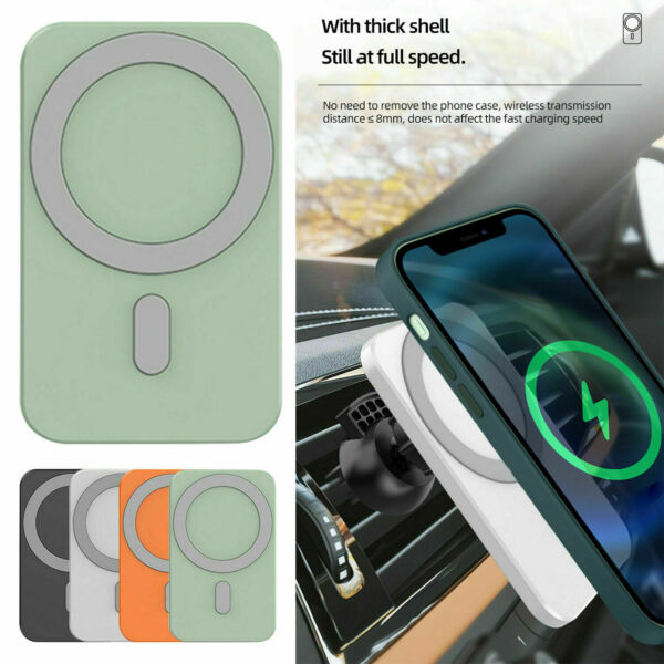 For iPhone 12 Pro Max 12 Mini Mag 15W Car Magnetic Wireless Chargers Mount Safe